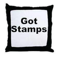 Got Stamps Throw Pillow