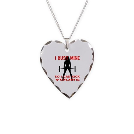 Bust Mine To Kick Yours Necklace Heart Charm
