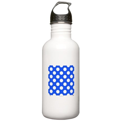 Blue with White Dots Stainless Water Bottle 1.0L