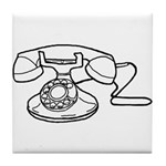Rotary Dial Telephone Tile Coaster