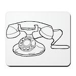 Rotary Dial Telephone Mousepad