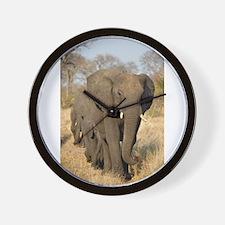 Elephants Stroll Wall Clock