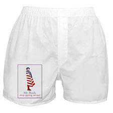 Mr. Bush, Stop Spying On Me! Boxer Shorts