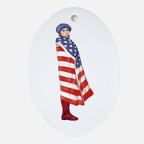 Young Patriot Oval Ornament