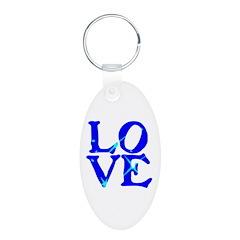 LOVE SPARKLE BLUE Keychains