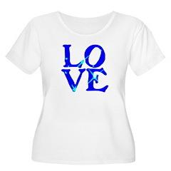 LOVE SPARKLE BLUE T-Shirt