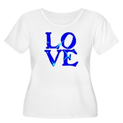 LOVE SPARKLE BLUE T-Shirt