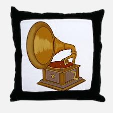 Gramophone Throw Pillow