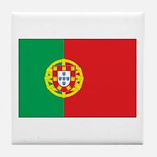 The Flag of Portugal Tile Coaster