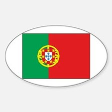 The Flag of Portugal Oval Decal