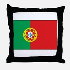 The Flag of Portugal Throw Pillow