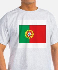 The Flag of Portugal Ash Grey T-Shirt