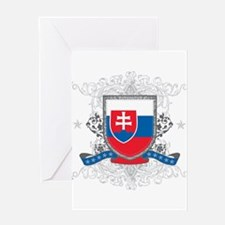 Slovakia Shield Greeting Card