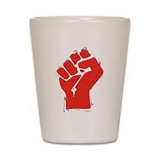 Raised Fist Shot Glass