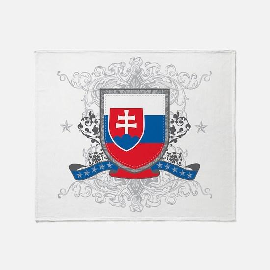 Slovakia Shield Throw Blanket