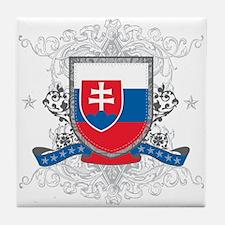 Slovakia Shield Tile Coaster