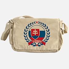 Slovakia Wreath Messenger Bag