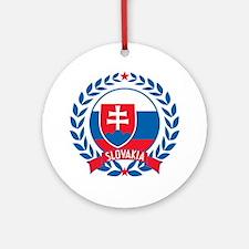Slovakia Wreath Ornament (Round)