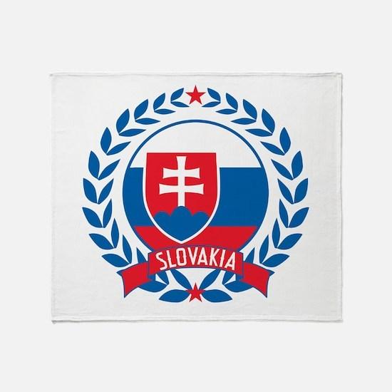 Slovakia Wreath Throw Blanket