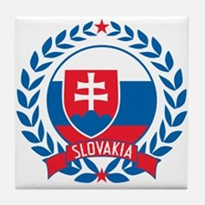 Slovakia Wreath Tile Coaster
