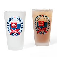 Slovakia Wreath Drinking Glass