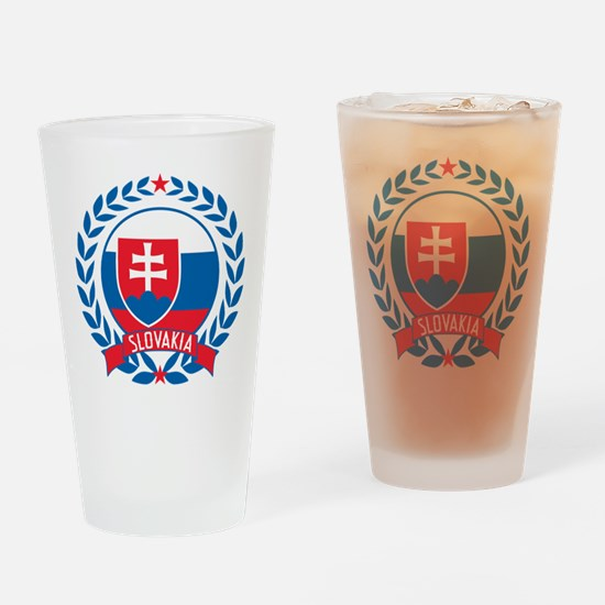 Slovakia Wreath Drinking Glass