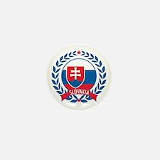 Slovakia Wreath Mini Button