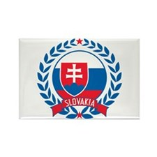 Slovakia Wreath Rectangle Magnet