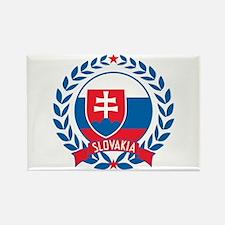 Slovakia Wreath Rectangle Magnet