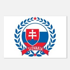Slovakia Wreath Postcards (Package of 8)