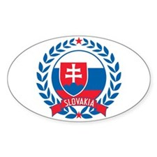 Slovakia Wreath Decal
