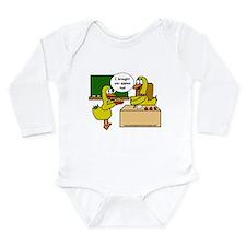 Duck teacher Long Sleeve Infant Bodysuit