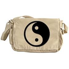 Black Yin Yang Messenger Bag