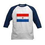 Flag of Paraguay Kids Baseball Jersey