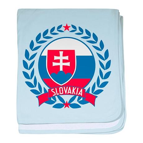 Slovakia Wreath baby blanket