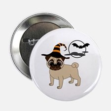 "Bewitched Fawn Pug 2.25"" Button (10 pack)"