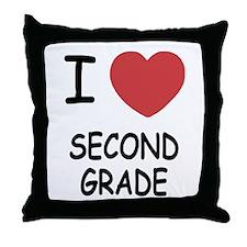 I heart second grade Throw Pillow