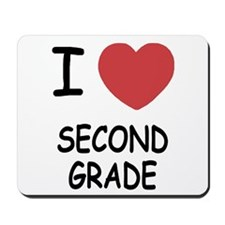 I heart second grade Mousepad
