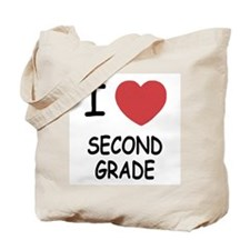 I heart second grade Tote Bag