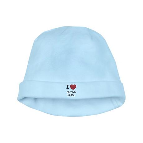 I heart second grade baby hat