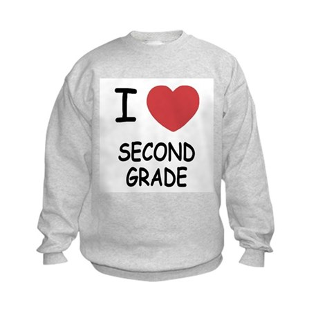 I heart second grade Kids Sweatshirt