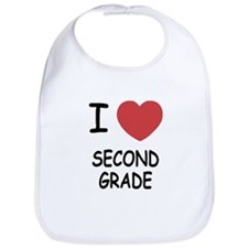 I heart second grade Bib