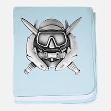 Combat Diver baby blanket