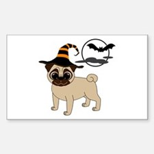 Bewitched Fawn Pug Decal