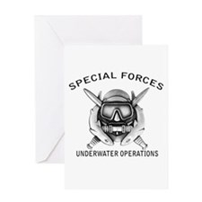Combat Diver w/sfuwo Greeting Card