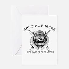 Combat Diver w/sfuwo Greeting Card