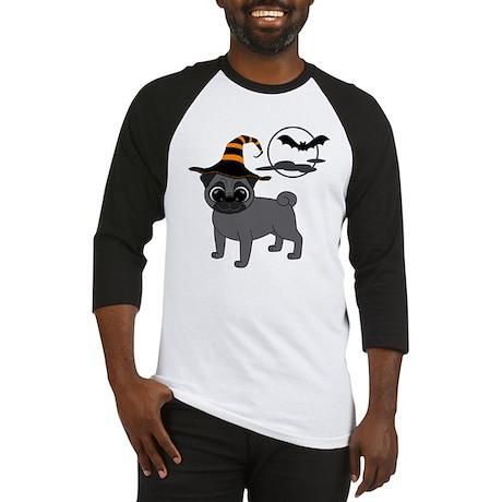 Bewitched Black Pug Baseball Jersey