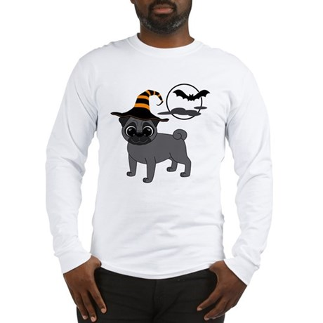 Bewitched Black Pug Long Sleeve T-Shirt