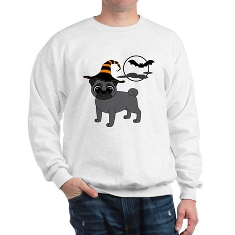 Bewitched Black Pug Sweatshirt