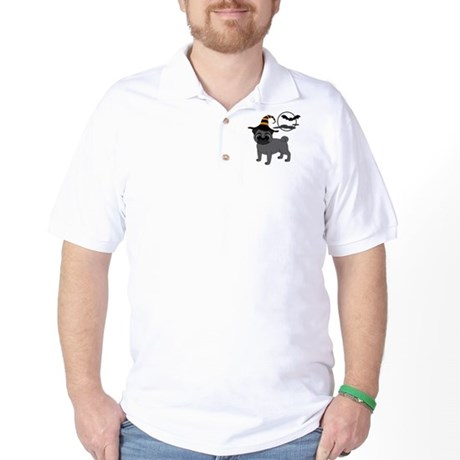 Bewitched Black Pug Golf Shirt